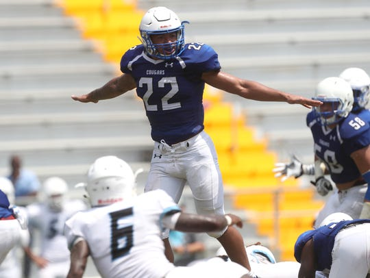 Godby's Martery Brown against Nature Coast at Cox Stadium