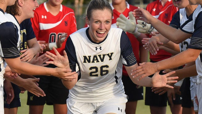 Roberson alum Anabell Motley is a sophomore forward for the Navy women's soccer team.