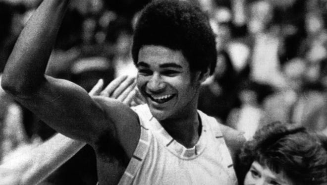 Paul Andrews was the man of the hour at the 1982 boys' Sweet 16.