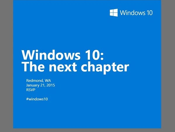 Microsoft will hold a consumer-focused Windows 10 event on January 21.