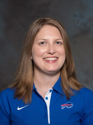 An undated handout photo provided by the Buffalo Bills on Jan. 20 shows Kathryn Smith, who has been announced as the team's new special teams quality control coach.