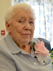 Mabel Walker, a resident at The Lodge in Great Falls,