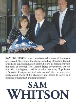 Fliers supporting Sam Whitson, a GOP challenger to state Rep. Jeremy Durham, started going out in Durham's Williamson County district recently.