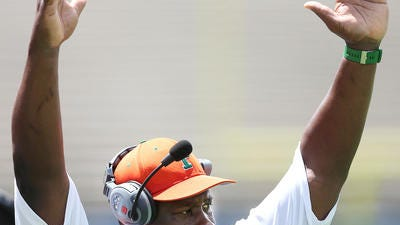 Earl Holmes hopes his FAMU football team will score enough touchdowns to win on Howard's homecoming.