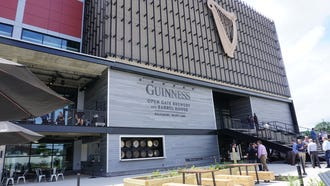 Guinness Open Gate is open to the public Monday through Friday 3 p.m. to 9 p.m., and Saturday and Sunday 12 p.m. to 9 p.m.