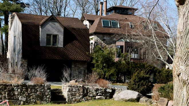 The historic barn at 19 Peter Lynas Court in Tenafly.