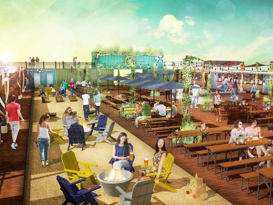 The upcoming Constitution Yards Beer Garden in Wilmington will offer craft beer, barbecue and backyard games like corn hole for all ages.