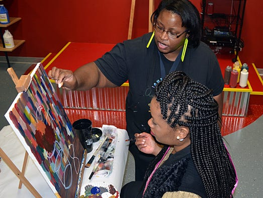 Painting with a Twist art instructor Anjelica Hardy,