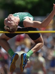 Coleman's Josh Pillath competes in the WIAA Division 3 high jump at the state track and field meet Saturday, June 4, 2016, at the Veterans Memorial Stadium in La Crosse, Wis.