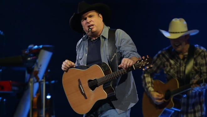Garth Brooks performs at the Joe Louis Arena on Friday February 20, 2015 for the first of his six shows at the arena in the downtown Detroit.