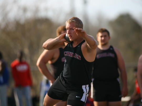 Chiles junior Jordan Poole is a favorite to score big at state in discus and shot put. The boys team is trying for three 3A state titles in a row.