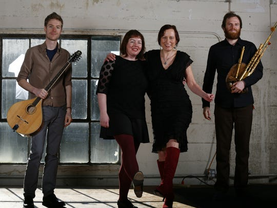 The Stomptowners, a traditional Irish instrumentation, voice and foot percussion band, will play a free, 21-and-older show 8 p.m. Saturday, April 18, at Boon's Treasury.