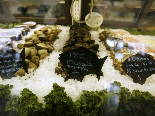 Fresh fish for sale at Rick's Seafood and Gourmet Market