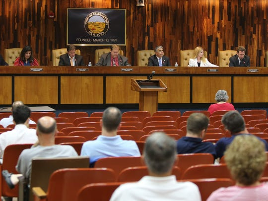 The Clarkstown Town Board meeting at town hall in New City Sept. 20, 2016.