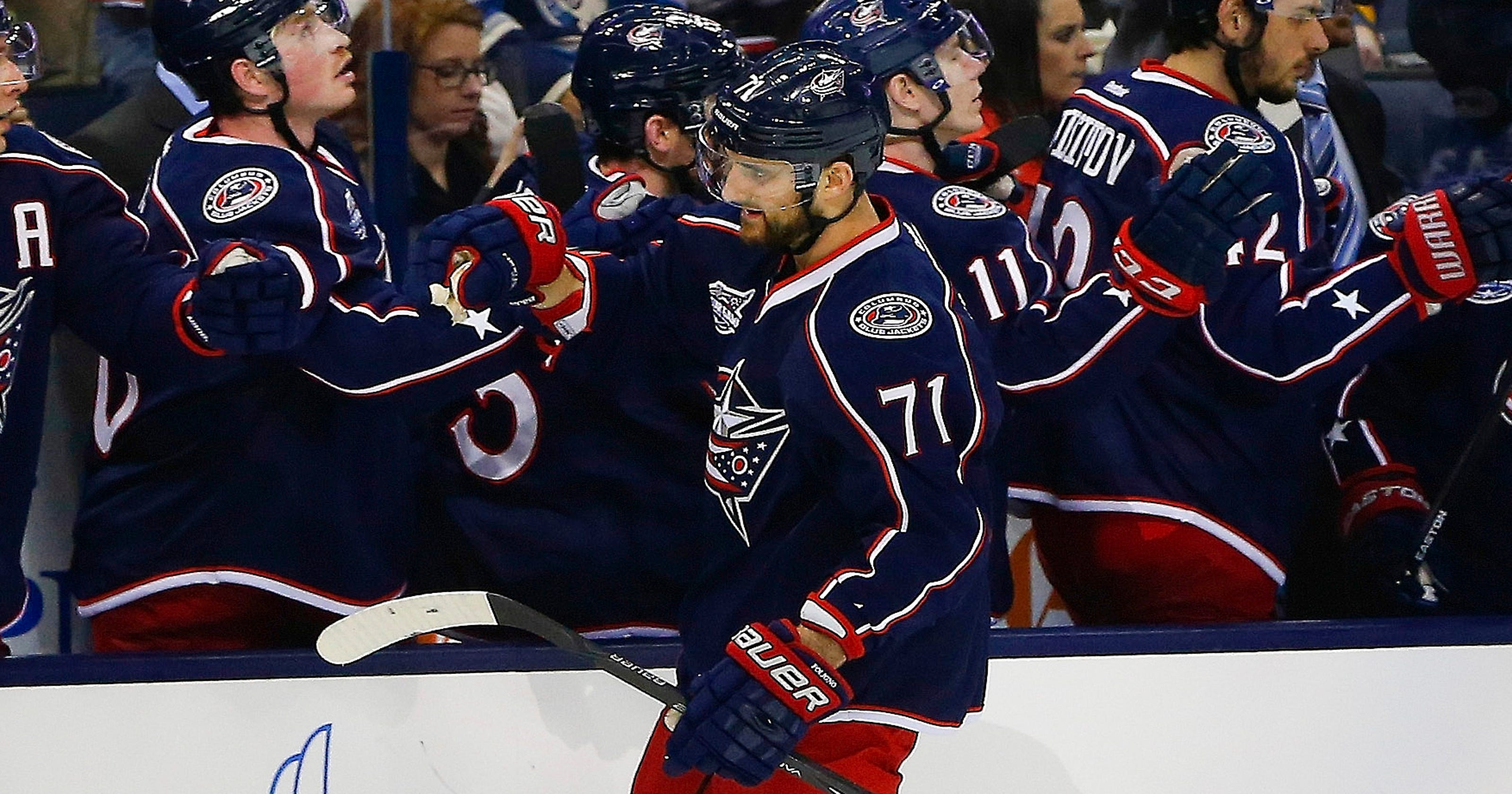5b74d245dce Nick Foligno leads Blue Jackets in 7-1 rout of Blues