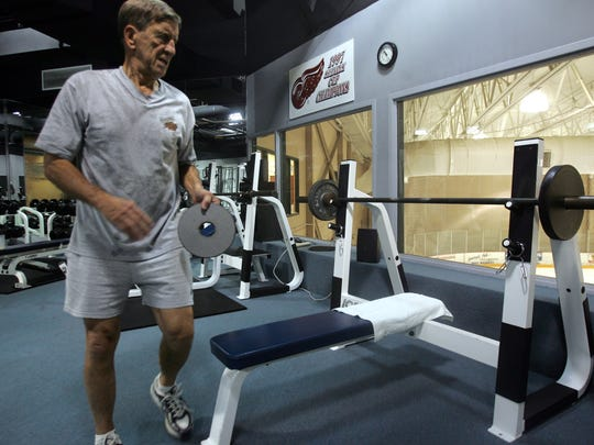Former Red Wings captain and Hall of Famer Ted Lindsay was dedicated to fitness, even when he was 80 years old.