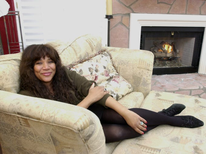 Joni Sledge relaxes at her favorite spot in her Scottsdale