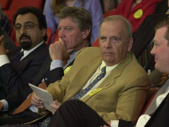 Raja Jubran, Ron Watkins  and Earl Worsham listen as