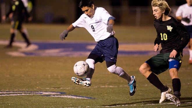 Bryan Gutierrez, shown during a 2016 game, scored Thursday in Roberson's win against Owen.