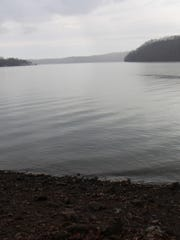A view of Watts Bar Reservoir from near the trail.