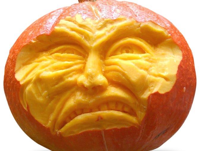 Carved pumpkin.