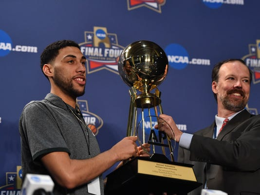 NCAA Basketball: NCAA Basketball: Final Four-Player and Coach of the Year Press Conference