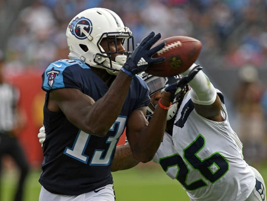 #13, Taywan Taylor, Wide Receiver: Titans wide receiver