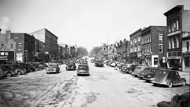 Canandaigua's South Main St. in 1949.