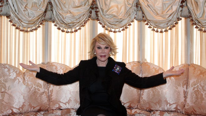 Joan Rivers is photographed Jan. 13, 2009 in Manhattan. Rivers, who died in September, bought the 11-room, 5,100-square-foot apartment in 1988, undertaking a painstaking renovation of the four-bedroom, five-bath unit and restoring its architectural details.