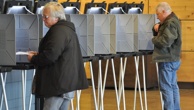 Germantown voters cast ballots on the afternoon of Tuesday, April 3, at the Life Church, W164 N11325 Squire Drive.