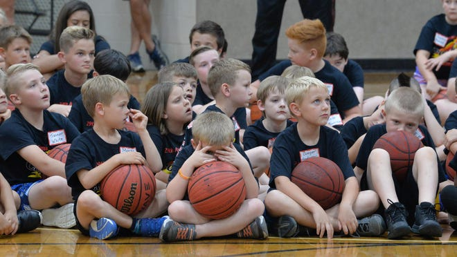 Campers learn new skills during the 29th annual Crossfire Basketball Camp last year at Hendersonville First Baptist Church.