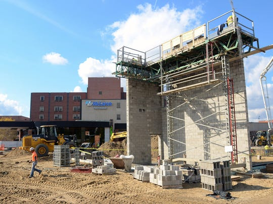 A stairwell is constructed for the new cancer treatment center Monday, Oct. 26, at Mclaren Port Huron.