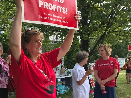 UVM Medical Center nurses went on strike July 12-13. Contract negotiations between nurses and the hospital have been underway since March 29.