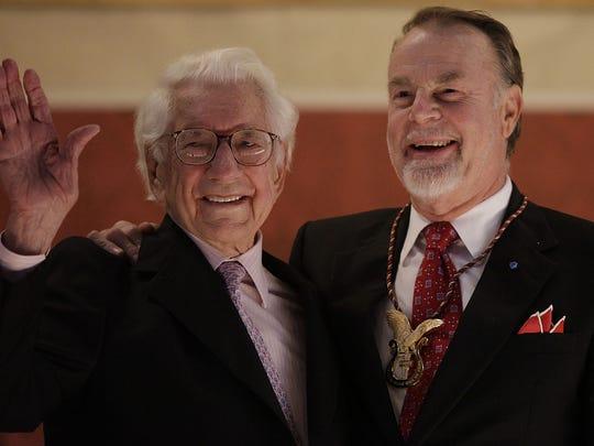 Carl Lindner and Erich Kunzel, conductor of the Cincinnati Pops Orchestra.