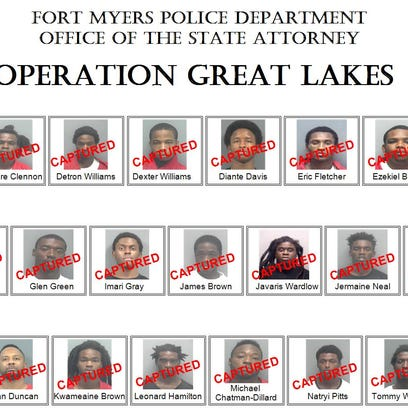 Twenty-one alleged members of the Lake Boyz have been