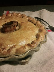 This savory British beef pie was baked with a marrow
