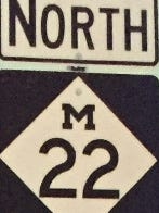 The M-22 sign.