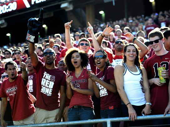 Stanford Cardinal fans.