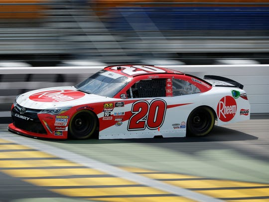 Christopher Bell (driving the No. 20) is one of three