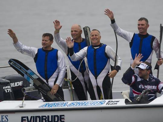 Aqua Skiers members Dan Dix, from left, Rich Taugner,