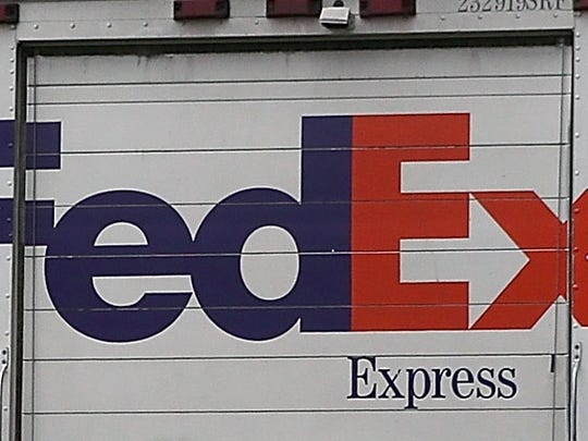Fed Ex stock photo