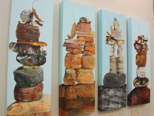 Shown are works by Helen Gwinn at the Artist Gallery