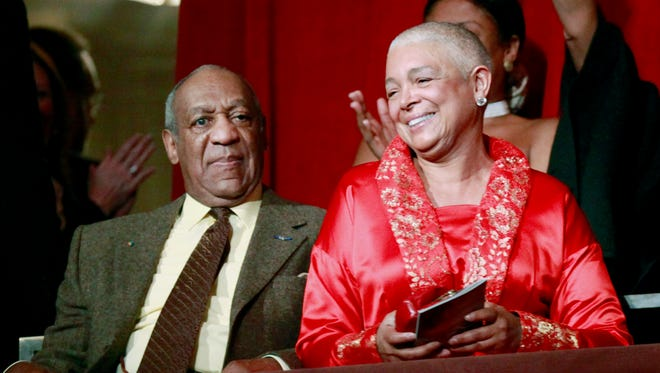 Bill Cosby, left, and his wife Camille appear at the John F. Kennedy Center for Performing Arts in 2009. Camille Cosby released a statement on Monday in support of her husband. The statement is the first public comment from Cosby's long-time wife since a wave of sexual assault allegations began swirling several weeks ago.