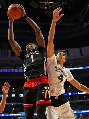 Jaylen Brown, left, has selected to attend Cal over Michigan and other schools, according to a report. Brown was the top recruit in the nation according to Scout.