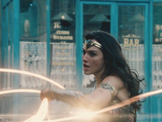 Wonder Woman (Gal Gadot) wields the Lasso of Truth