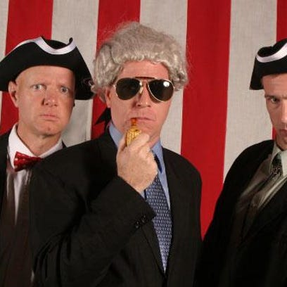 The Reduced Shakespeare Company has three performers engage in rapid-fire slapstick satire of American history.