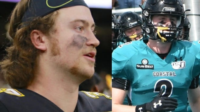 Brevard's Ellenberger brothers will face off Saturday as Appalachian State travels to Coastal Carolina. Tanner Ellenberger is on the left (photo provided by Appalachian State) and Luke Ellenberger is on the right (photo privided by Coastal Carolina).