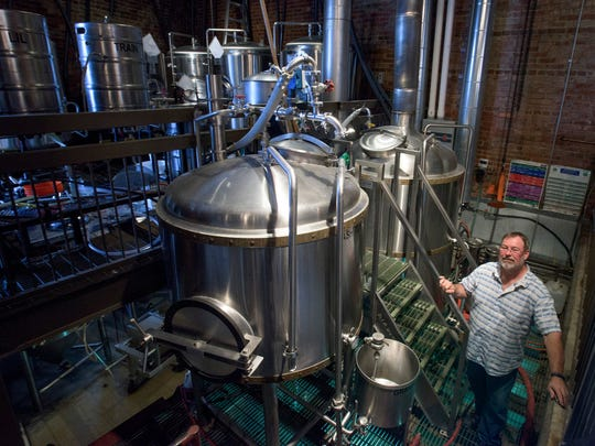 Jamie Ray, head brewer for Railyard Brewing Co., in Montgomery, Ala., on Friday May 5, 2017.
