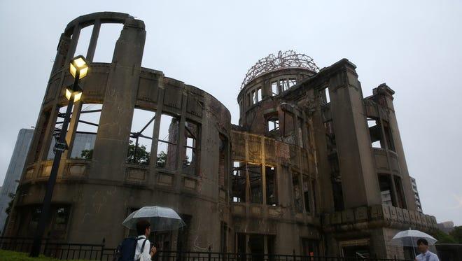 The Atomic Bomb Dome at the Hiroshima Peace Memorial Park.