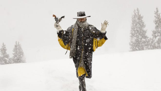 "Samuel L. Jackson in ""The Hateful Eight.""  The movie opens Wednesday at Regal West Manchester Stadium 13, Frank Theatres Queensgate Stadium 13 and R/C Hanover Movies."